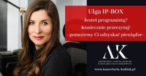 Kancelaria Usług Księgowych Agnieszka Larysa Kubiak ULGA IP-BOX