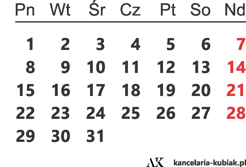 kalendarz ważnych termin
