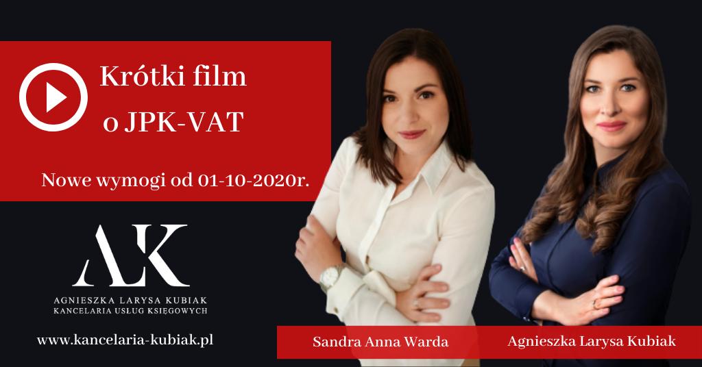 JPK-VAT krótkie szkolenie Kancelaria Usług Księgowych Agnieszka Larysa Kubiak