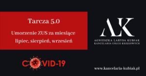 Kancelaria Usług Księgowych Agnieszka Larysa Kubiak Tarcza antykryzysowa 5.0