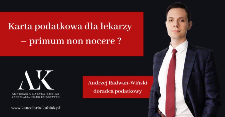 Kancelaria Usług Księgowych Agnieszka Larysa Kubiak Karta Podatkowa dla lekarzy