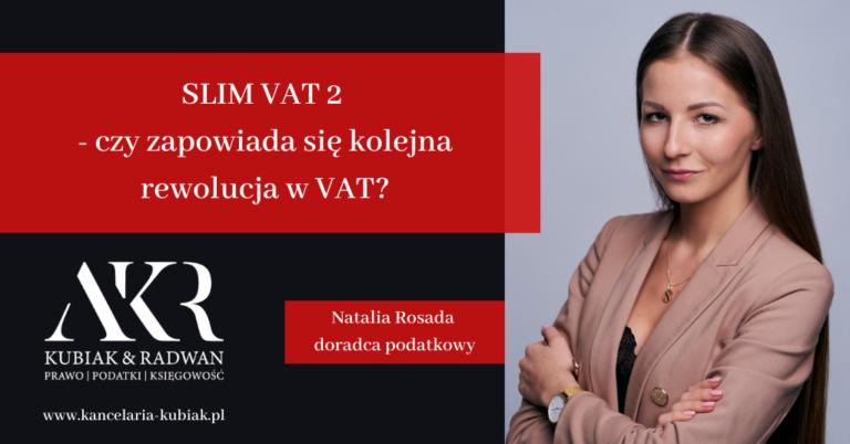 1. Kancelaria Usług Księgowych Agnieszka Larysa Kubiak Slim VAT II