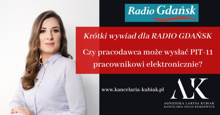 Kancelaria Usług Księgowych Agnieszka Larysa Kubiak Czy PIT-11 można wysłać pracownikowi elektronicznie