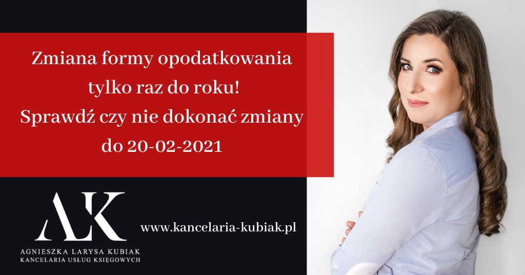 Kancelaria-Usług-Księgowych-Agnieszka-Larysa-Kubiak-zmiana-formy-opodatkowania