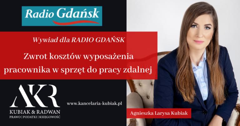 Kancelaria Usług Księgowych Agnieszka Larysa Kubiak - zwrot kosztów wyposażenia pracownika w sprzęt do pracy zdalnej