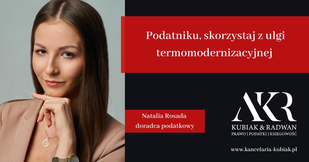 Kancelaria Usług Księgowych Agnieszka Larysa Kubiak ULGA TERMOMODERNIZACYJNA