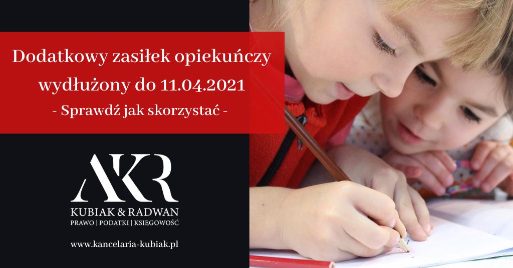 Kancelaria Usług Księgowych Agnieszka Larysa Kubiak - dodatkowy zasiłek opiekuńczy