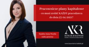 Kancelaria Usług Księgowych Agnieszka Larysa Kubiak PRACOWNICZE PLANY KAPITAŁOWE