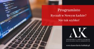 Kancelaria Usług Księgowych Agnieszka Larysa Kubiak ryczałt dla programistów nowy ład